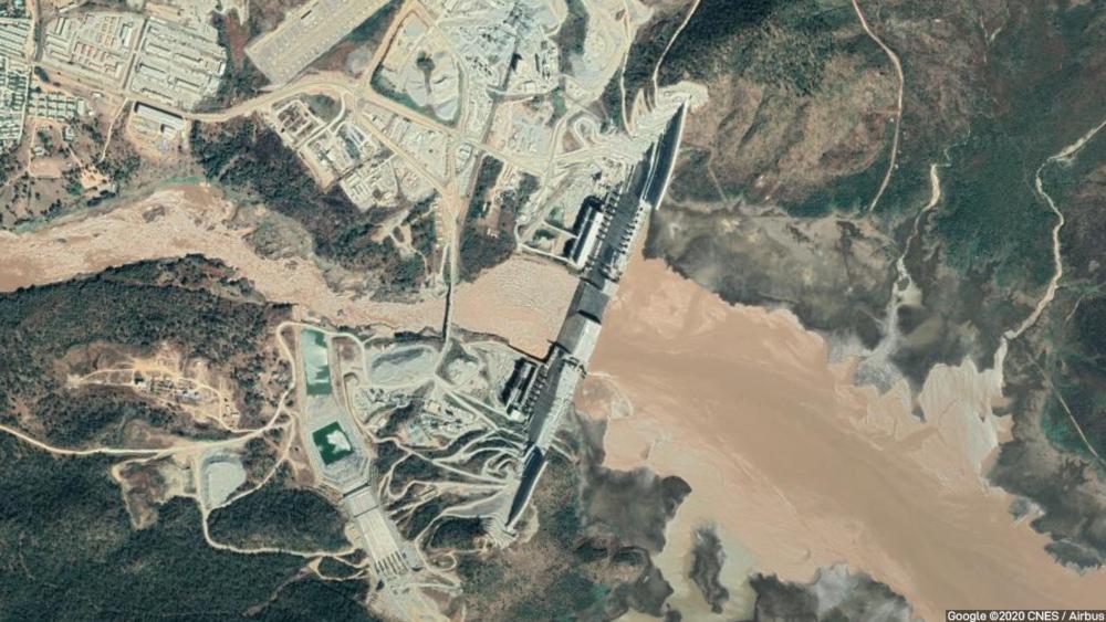 The Grand Ethiopian Renaissance Dam straddles the Blue Nile