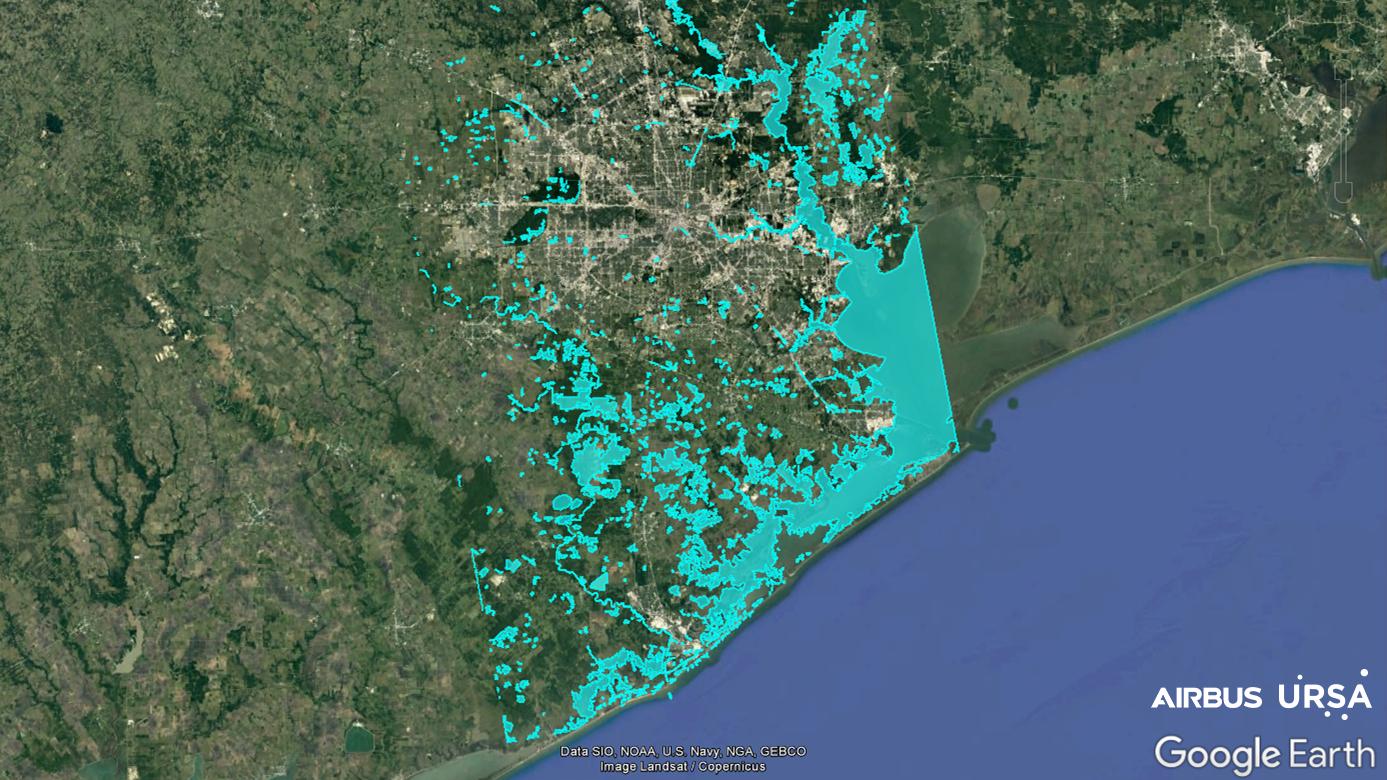 Hurricane Harvey Flood Map