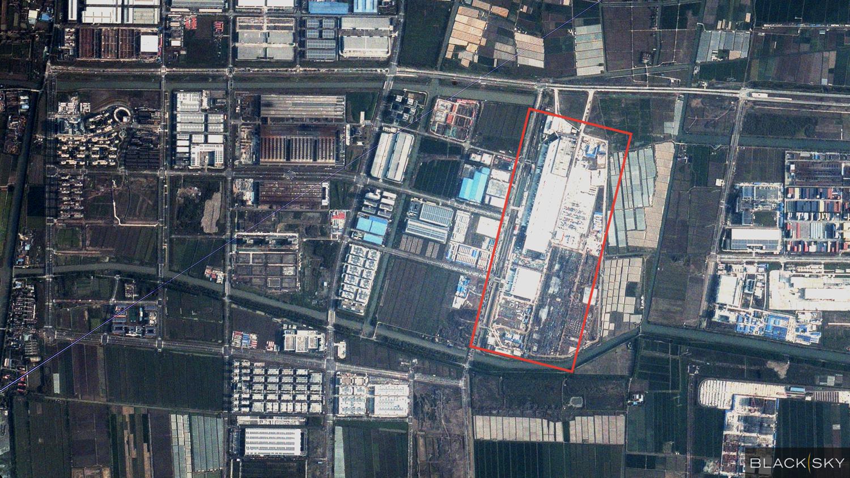 Tesla factory in Shanghai, China