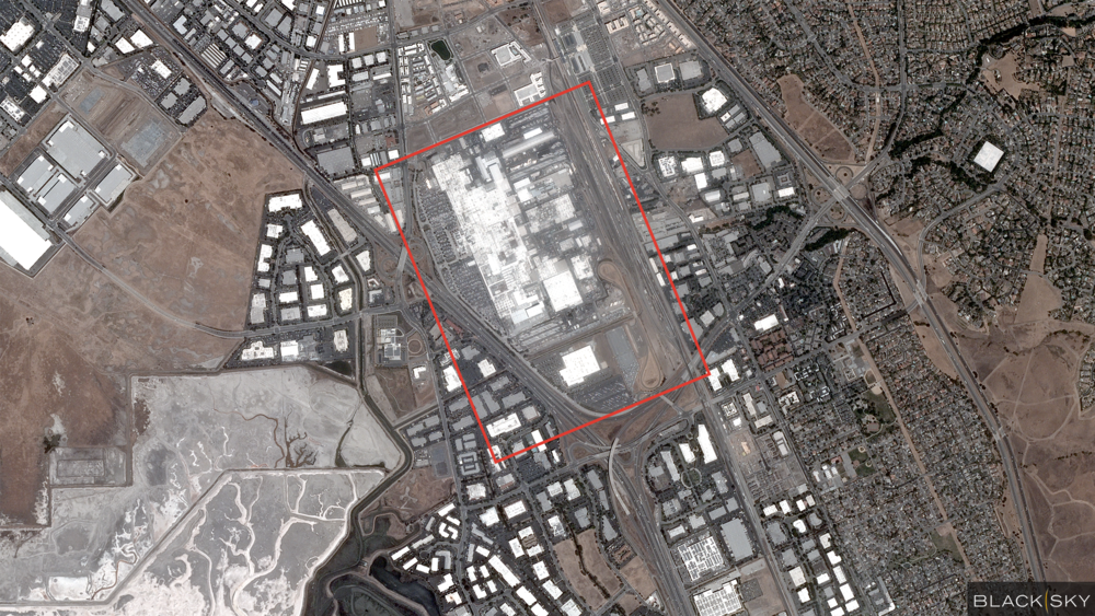 Tesla manufacturing facility in Fremont, California
